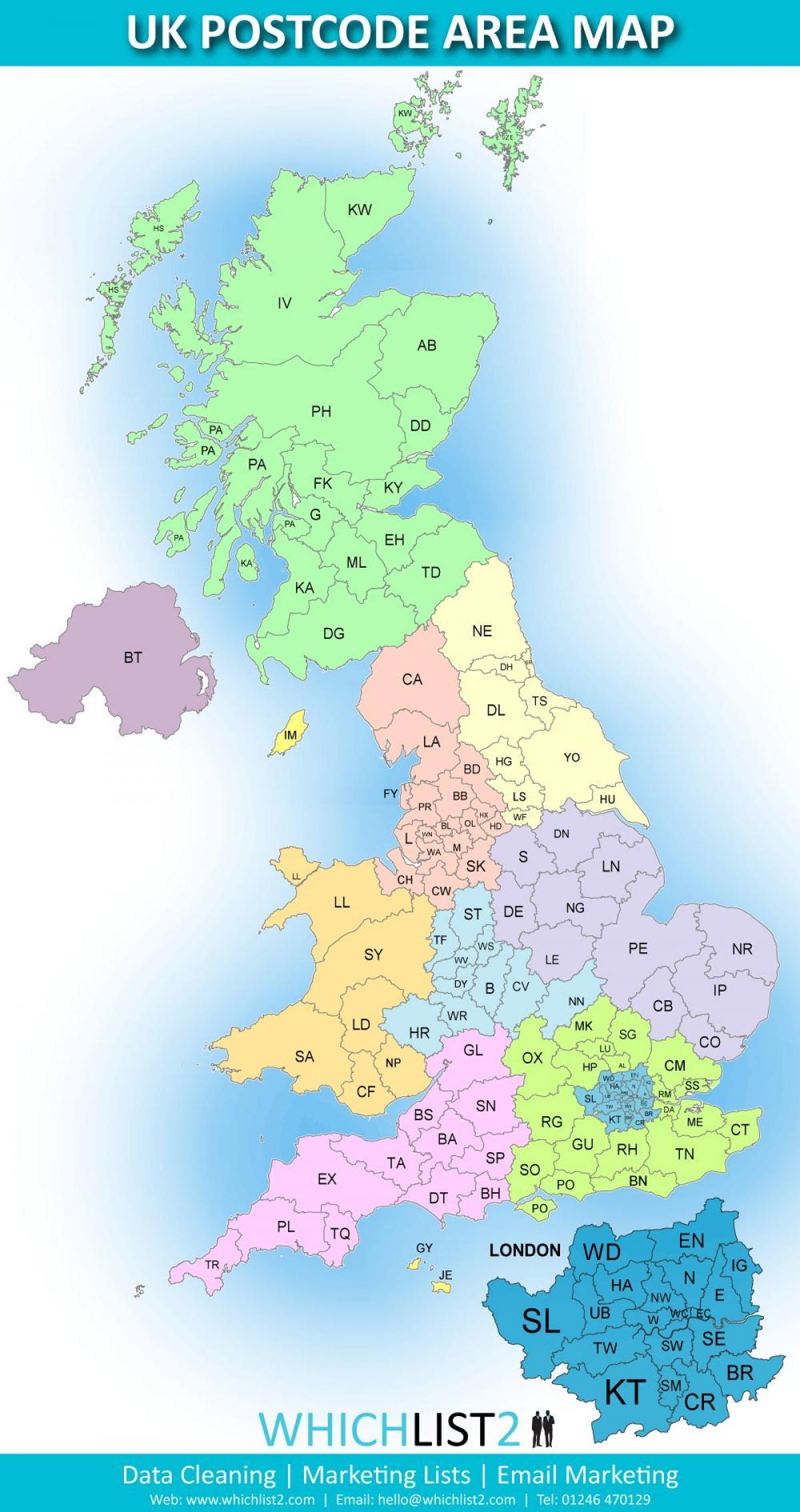 المملكة المتحدة الرمز البريدي خريطة المملكة المتحدة الرمز البريدي خريطة المنطقة شمال أوروبا أوروبا